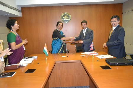 The agreement between the RBI and the Nepal National Bank