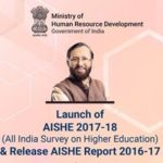 AISHE Final Report 2016-17 on higher education