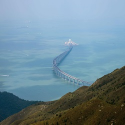 The World's Longest Sea Bridge Opens in China