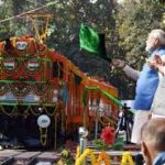 PM flags off 1st ever diesel to electric converted locomotive twin engine