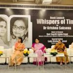 Dr Krishna Saksena's book 'Whispers of Time' unveiled