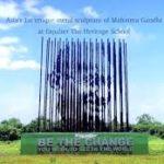 World's Biggest Metal Art Sculpture Of Mahatma Gandhi In Maharashtra