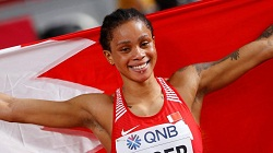 first Asian to win women's 400m world title