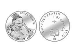 Roger Federer's silver coin